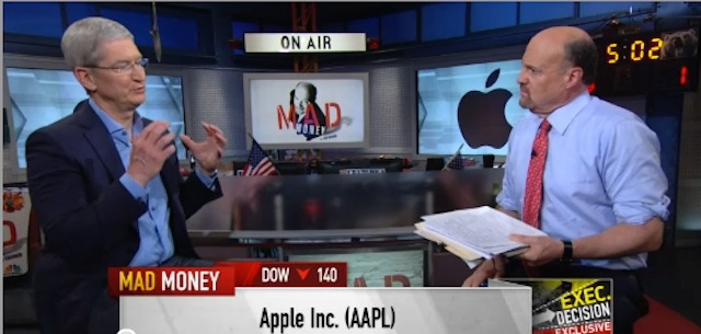 Tim Cook sits with CNBC Mad Money Jim Cramer and shares his thoughts on Apple 's Growth and Innovation and Government's Dysfunction