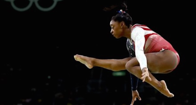 Simone Biles on the beam