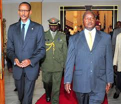 Paul Kagame and Yoweri Museveni, August 2013