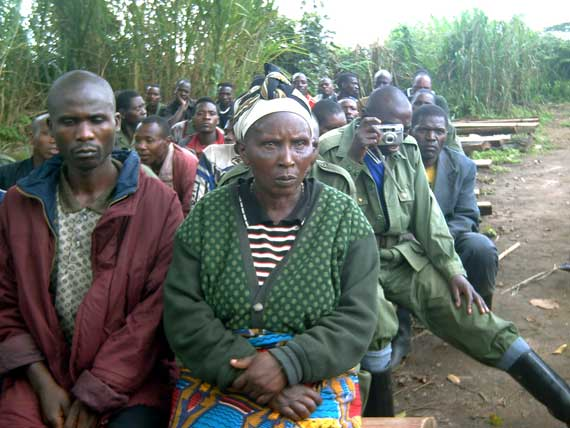 A delegation of Rwandan refugees grouped and disarmed in Kasiki visit Kigali, On 23 January 2009