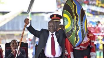 John Magufuli in Nov 5, 2020 Swearing-in Ceremony
