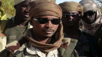 Chad's Idriss Deby's son, General Mahamat Idriss Déby Itno in Djamena,at the front